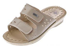 Damen Clogs Weiß Schwarz Beige Pantoletten Gel Effekt Latschen Gesundheits Schuhe Antibakteriell Sandalette – Bild 4