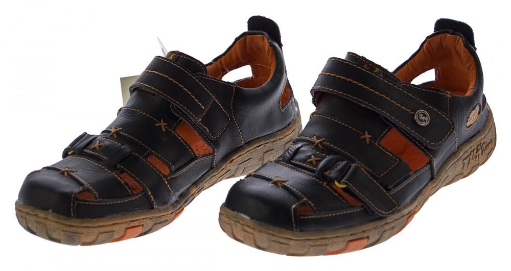 Sandalen Halbschuhe Klettverschluss Sandaletten Tma 1667 Leder Schuhe Damen Echt Lq35Rj4A