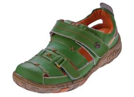 Damen Echt Leder Sandalen Klettverschluss Halbschuhe Leder Schuhe TMA 1667 Sandaletten – Bild 3