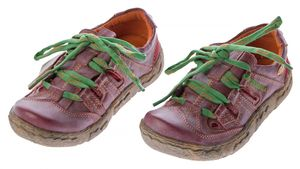 Damen Leder Halb Schuhe Used Look Comfort Sneakers Grau Grün Weiss Rot Schwarz Turnschuhe TMA Eyes – Bild 5