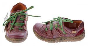 Damen Leder Halb Schuhe Used Look Comfort Sneakers Grau Grün Weiss Rot Schwarz Turnschuhe TMA Eyes – Bild 21