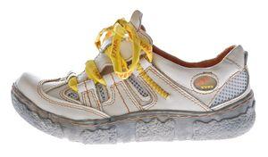 Damen Leder Halb Schuhe Used Look Comfort Sneakers Grau Grün Weiss Rot Schwarz Turnschuhe TMA Eyes – Bild 12