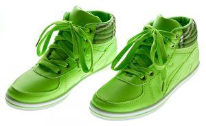 Damen Sneaker Knöchel Schuhe Mid Cut Sportschuhe Hellblau Orange Neongrün Boots Turnschuhe – Bild 5
