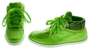 Damen Sneaker Knöchel Schuhe Mid Cut Sportschuhe Hellblau Orange Neongrün Boots Turnschuhe – Bild 6