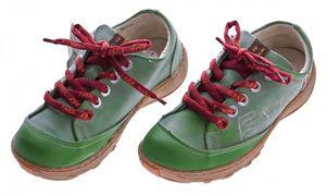 Leder Damen Halb Schuhe TMA Eyes Comfort Sneakers Used Look Sky Blau Schwarz Grün Turnschuhe – Bild 5
