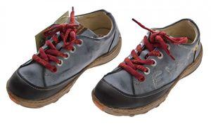 Leder Damen Halb Schuhe TMA Eyes Comfort Sneakers Used Look Sky Blau Schwarz Grün Turnschuhe – Bild 8