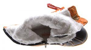 Damen Winter Stiefel Leder TMA Schuhe gefüttert Schwarz Grün Weiß Zierreißverschluss Winterstiefel – Bild 20