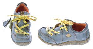 Damen Leder Halb Schuhe Comfort Sneakers Schwarz Grün Rot Grau Weiß Used Look Turnschuhe TMA Eyes – Bild 15