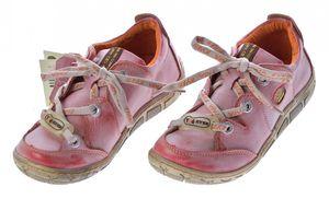 Damen Leder Halb Schuhe Comfort Sneakers Schwarz Grün Rot Grau Weiß Used Look Turnschuhe TMA Eyes – Bild 11