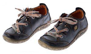 Damen Leder Halb Schuhe Comfort Sneakers Schwarz Grün Rot Grau Weiß Used Look Turnschuhe TMA Eyes – Bild 5