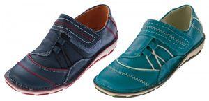 Damen Slipper Schuhe Türkis Dunkelblau Halbschuhe Sneakers Ziernähte Freizeitschuhe – Bild 1