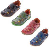 Damen Comfort Leder Schuhe TMA 1339 Slipper Turnschuhe Sneakers Halbschuhe Schwarz Blau Rot Grün – Bild 1