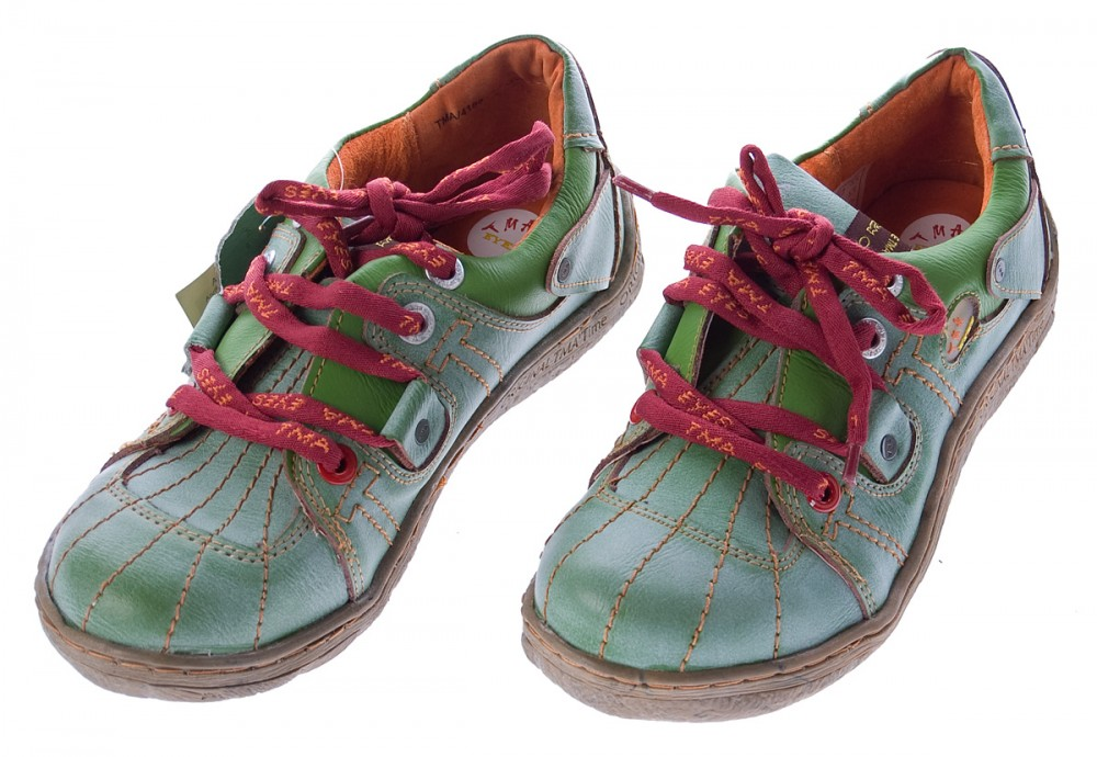 29ec9cc31aafd0 Comfort Leder Schuhe Damen Schuhe Schwarz Weiß Grün Schnürer Sneakers used  Look Halbschuhe – Bild 5