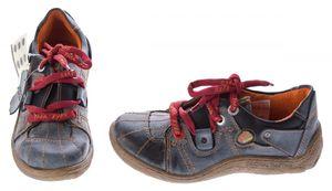 Comfort Leder Schuhe Damen Schuhe Schwarz Weiß Grün Schnürer Sneakers used Look Halbschuhe – Bild 3