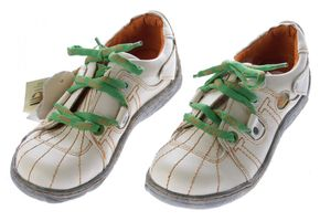 Comfort Leder Schuhe Damen Schuhe Schwarz Weiß Grün Schnürer Sneakers used Look Halbschuhe – Bild 8