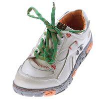 Comfort Damen Sneakers Leder Schuhe Schwarz Grün Weiß Gelb Blau Rot Turnschuhe Schnürer Halbschuhe – Bild 5