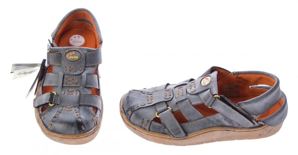 Damen Comfort Leder Sandaletten Schwarz Grün Grau Schuh used Look echt  Leder Pantoletten Sandalen – Bild