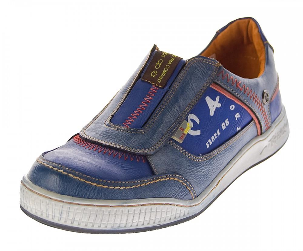 wholesale dealer 3a588 8e017 Herren Leder Schuhe Slipper TMA 4104 Halb Schuhe Blau Sneaker Comfort  Sportschuhe Used Look