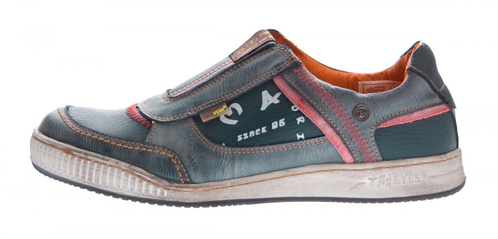 wholesale dealer d1a1e 51b04 Herren Leder Schuhe Slipper TMA 4104 Halb Schuhe Blau Sneaker Comfort  Sportschuhe Used Look