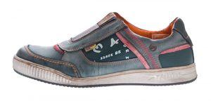 Herren Leder Schuhe Slipper TMA 4104 Halb Schuhe Blau Sneaker Comfort Sportschuhe Used Look – Bild 7