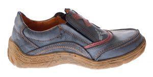 Leder Comfort Damen Schuhe TMA EYES 1417 Slipper Turnschuhe Sneakers Halbschuhe Schwarz Grün Blau – Bild 7
