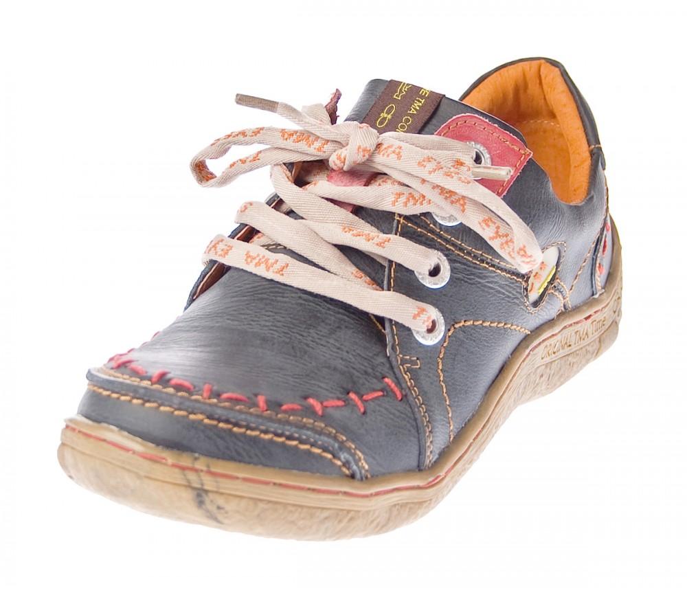 TMA Damen Freizeit Schuhe Echtleder Comfort Halbschuhe 1646 (36, Schwarz)