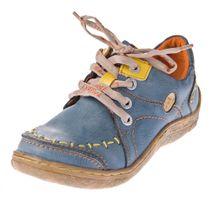 Damen Leder Halb Schuhe Comfort Sneakers Schwarz Grün Blau Rot Weiß Used Look Turnschuhe TMA EYES 1646 – Bild 3