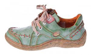 Damen Leder Halb Schuhe Comfort Sneakers Schwarz Grün Blau Rot Weiß Used Look Turnschuhe TMA EYES 1646 – Bild 11