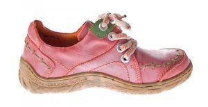 Damen Leder Halb Schuhe Comfort Sneakers Schwarz Grün Blau Rot Weiß Used Look Turnschuhe TMA EYES 1646 – Bild 18