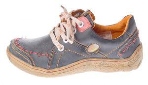 Damen Leder Halb Schuhe Comfort Sneakers Schwarz Grün Blau Rot Weiß Used Look Turnschuhe TMA EYES 1646 – Bild 20