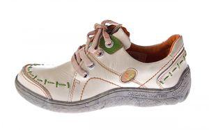 Damen Leder Halb Schuhe Comfort Sneakers Schwarz Grün Blau Rot Weiß Used Look Turnschuhe TMA EYES 1646 – Bild 14