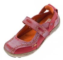 Damen Leder Ballerina Schuhe TMA EYES 1601 Sandalen viele Farben Zeitungsdruck Gr 36-42 – Bild 12