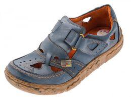 Damen Comfort echt Leder Sandaletten TMA 7008 Schuhe viele Farben Zeitungsdruck Halbschuhe Sandalen – Bild 5