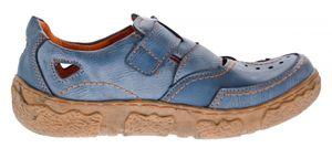 Damen Comfort echt Leder Sandaletten TMA 7008 Schuhe viele Farben Zeitungsdruck Halbschuhe Sandalen – Bild 20
