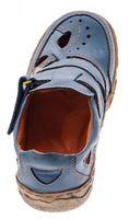 Damen Comfort echt Leder Sandaletten TMA 7008 Schuhe viele Farben Zeitungsdruck Halbschuhe Sandalen – Bild 22