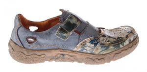 Damen Comfort echt Leder Sandaletten TMA 7008 Schuhe viele Farben Zeitungsdruck Halbschuhe Sandalen – Bild 10