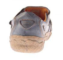 Damen Comfort echt Leder Sandaletten TMA 7008 Schuhe viele Farben Zeitungsdruck Halbschuhe Sandalen – Bild 18