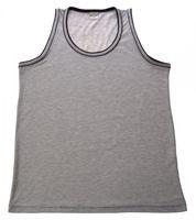 Herren Muscle Träger Shirt Baumwolle Achsel Muskel T-Shirt Weiß Grau Rundhalsausschnitt bis Größe 3XL – Bild 1