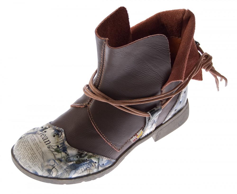 Echt Leder Damen Stiefeletten Comfort  Boots Knöchel Schuhe TMA 5161 Stiefel