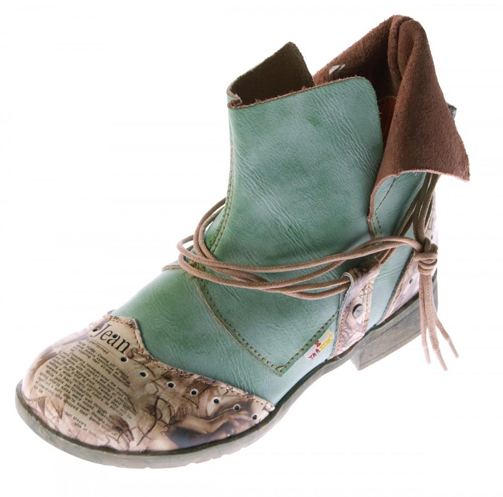 abholen spottbillig wie man wählt Damen Comfort Leder Stiefeletten TMA 5161 Boots viele Farben Knöchel Schuhe  Stiefel