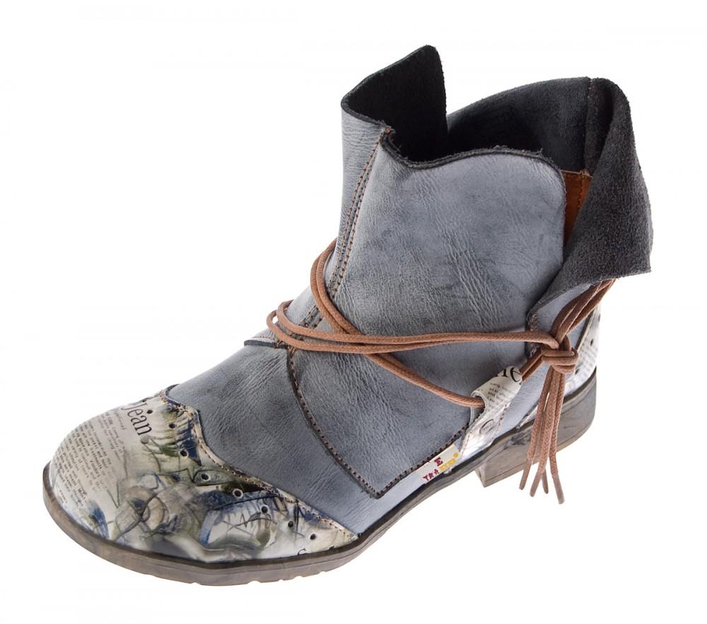 7f005fddd2eea Damen Comfort Leder Stiefeletten TMA 5161 Boots viele Farben Knöchel Schuhe  Stiefel
