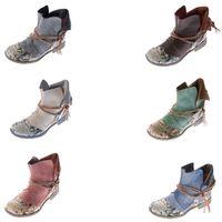 Damen Comfort Leder Stiefeletten TMA 5161 Boots viele Farben Knöchel Schuhe Stiefel – Bild 1