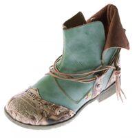 Damen Comfort Leder Stiefeletten TMA 5161 Boots viele Farben Knöchel Schuhe Stiefel – Bild 5