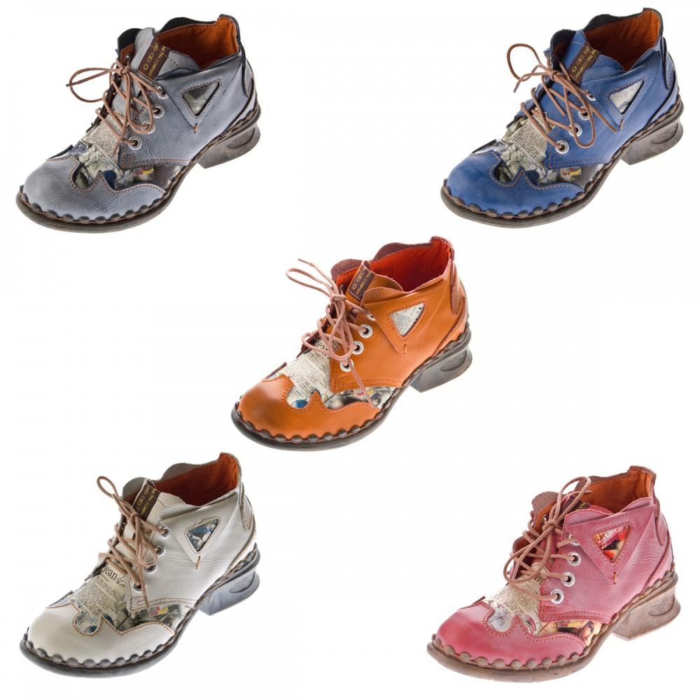 Damen Leder Comfort Knöchel Schuhe TMA 5155 Halb Schuhe viele Farben Boots