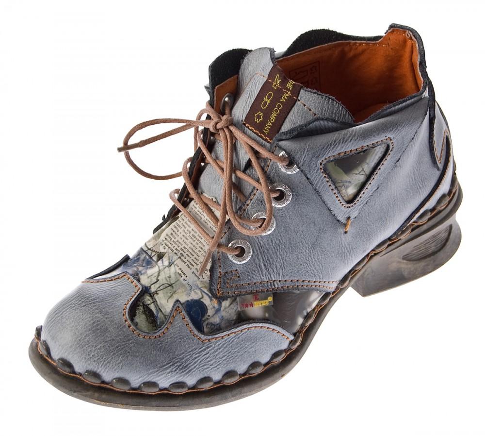 30df12a70e Damen Leder Comfort Knöchel Schuhe TMA 5155 Halb Schuhe Schwarz-Grau Blau  Weiß Rot Blockabsatz Boots