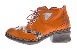 Damen Leder Comfort Knöchel Schuhe TMA 5155 Halb Schuhe Schwarz-Grau Blau Weiß Rot Blockabsatz Boots – Bild 24