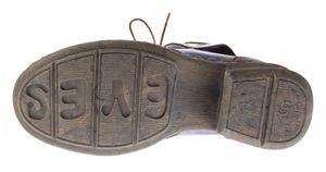 Damen Leder Comfort Knöchel Schuhe TMA 5155 Halb Schuhe Schwarz-Grau Blau Weiß Rot Blockabsatz Boots – Bild 10