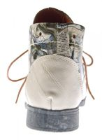 Damen Leder Stiefeletten Comfort Boots Knöchel Schuhe TMA 5166 Halbschuhe Grau Schwarz Rot Weiß Blau – Bild 15