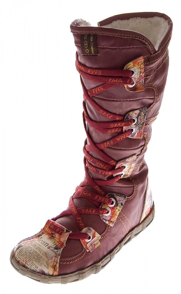pretty nice e8d1e 53cfa Leder Damen Stiefel TMA 2018 N Schuhe gefüttert Winter Lederstiefel Schwarz  Weiß Braun Rot