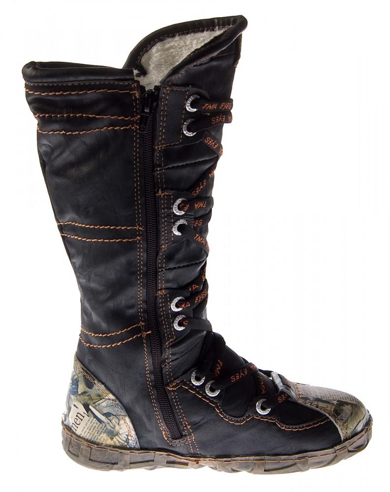 dc8f623013c347 Leder Damen Stiefel TMA 2018 N Schuhe gefüttert Winter Lederstiefel Schwarz  Weiß Braun Rot – Bild